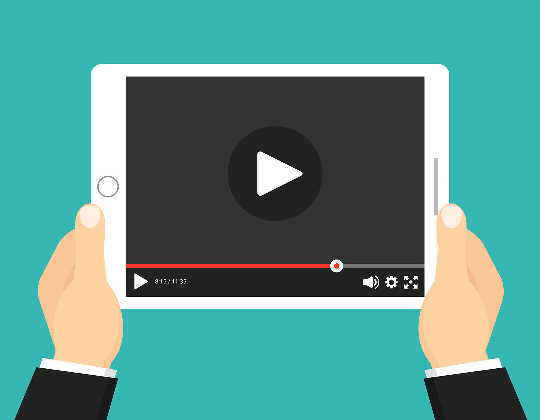 Illustration of Tablet Playing YouTube