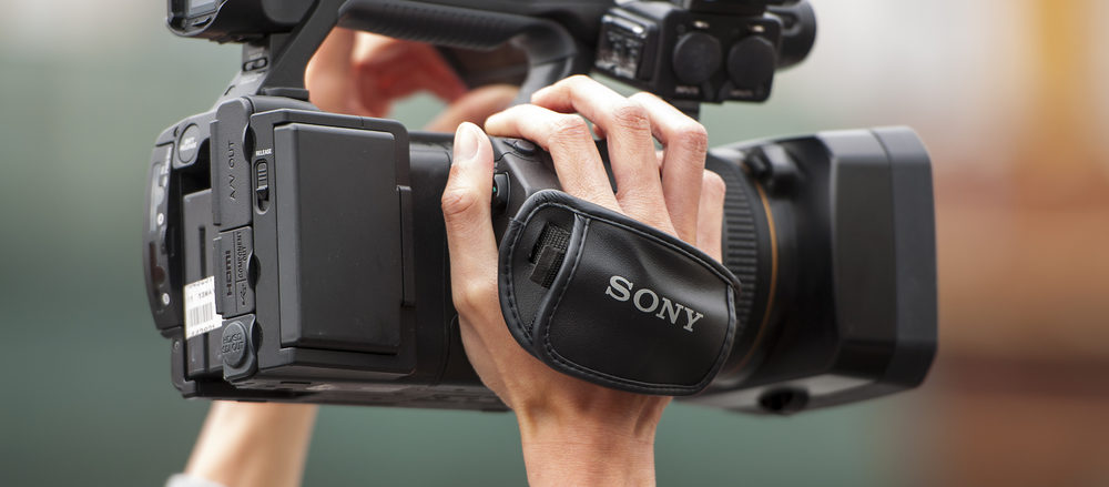 Professional Camcorder Gathering Local News